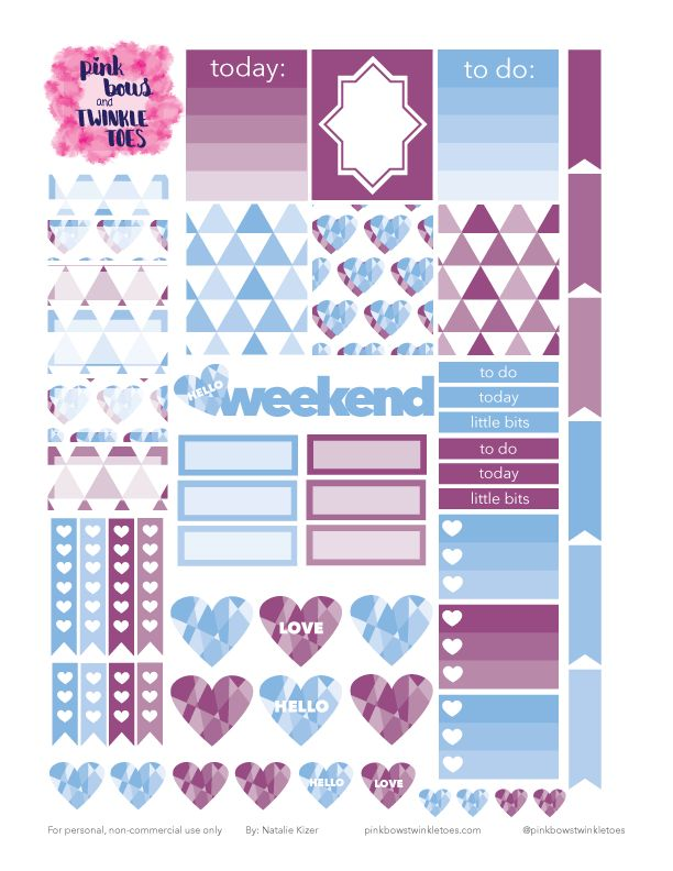 PBTT: Free Geometric Love Sticker Sheet