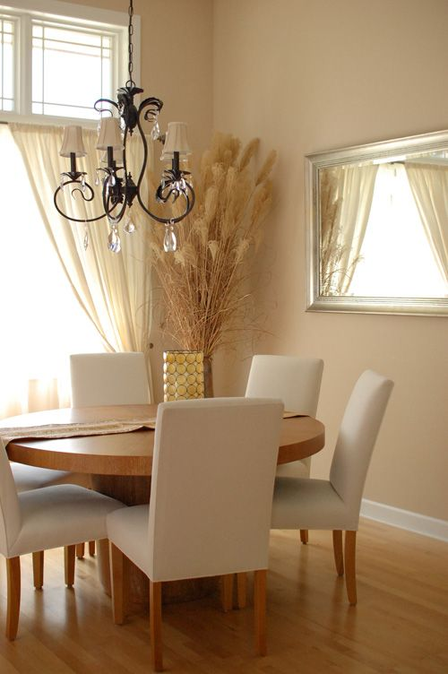 dining room in sherwin williams sand dollar and ivory from c b i d home decor and design. Black Bedroom Furniture Sets. Home Design Ideas