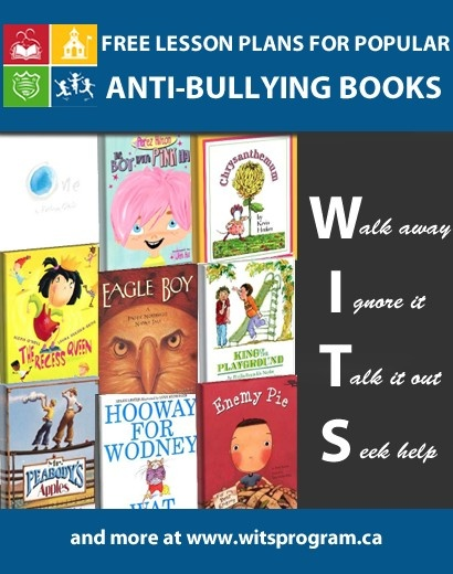 "Free Lesson Plans for Popular Anti-bullying Books! The WITS Programs are literature-based with book lists assembled by teachers and librarians. These children's books depict characters facing conflicts in a variety of contexts. The books can be used to initiate discussions with children about how characters use WITS or WITS LEADS strategies and, in some cases, how the characters could have done a better job of ""using their WITS."""
