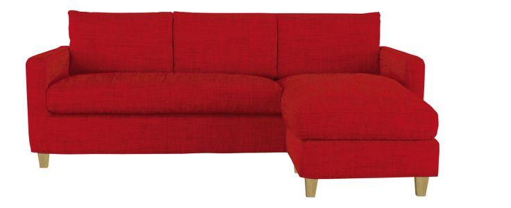 CHESTER Canapés Canapé d'angle Rouge Tissu