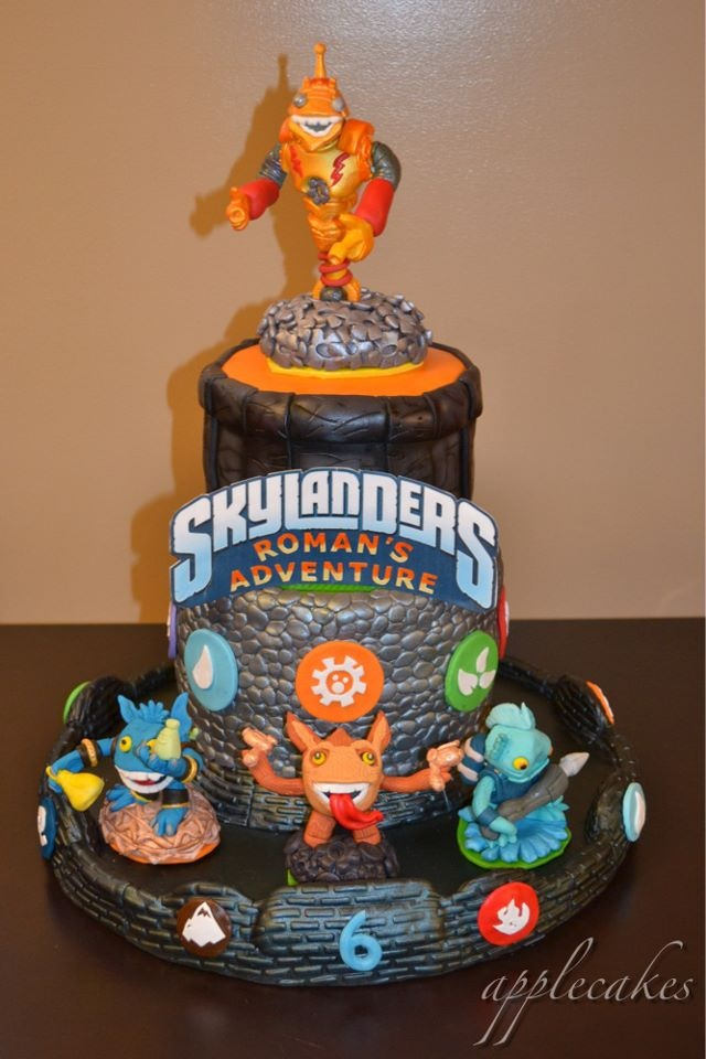 Pictures Of Skylander Birthday Cakes