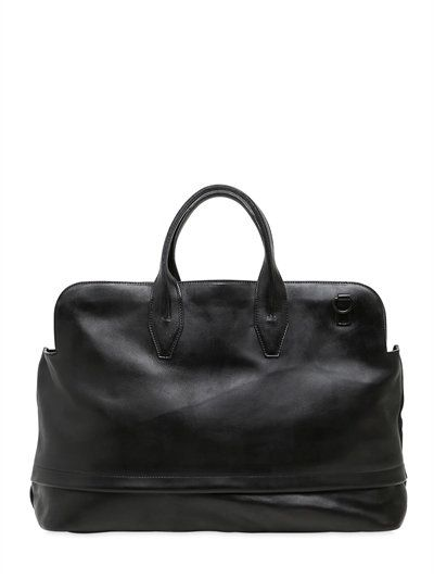 BRUSHED LEATHER DUFFLE BAG