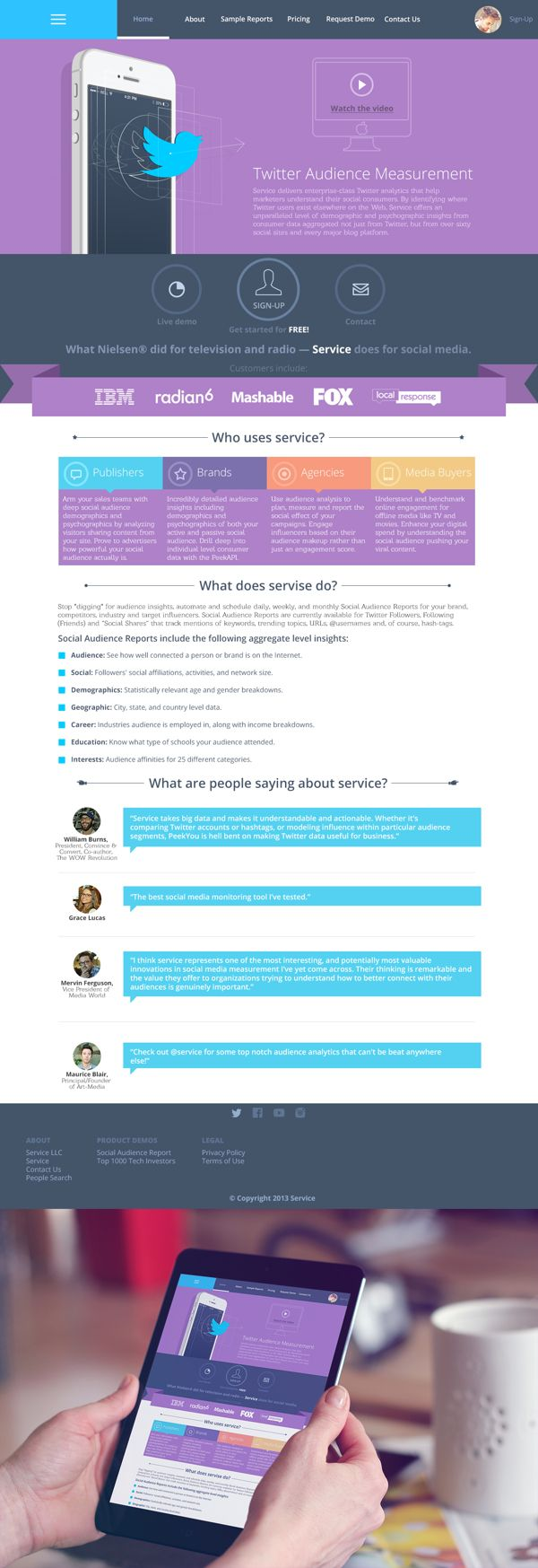 Service Home Page by Sergey Valiukh, via Behance