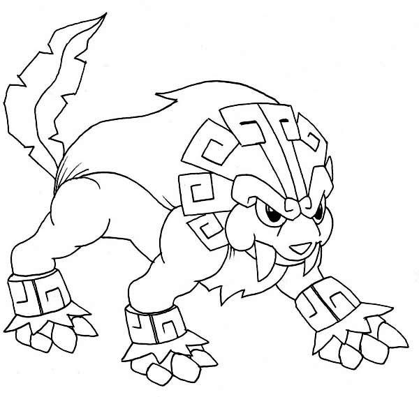 Lionatiuh Legendary Pokemon Coloring Page