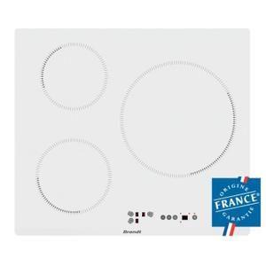 BRANDT BPI6315W - Table de cuisson - Induction - 3 zones - Blanche - Achat / Vente plaque induction - Cdiscount
