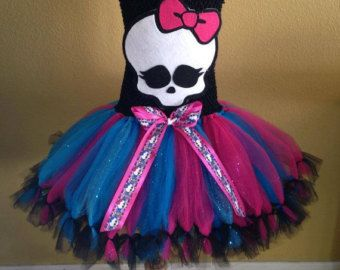 Monster high tutu set /monster high tutu by Divastutusboutique