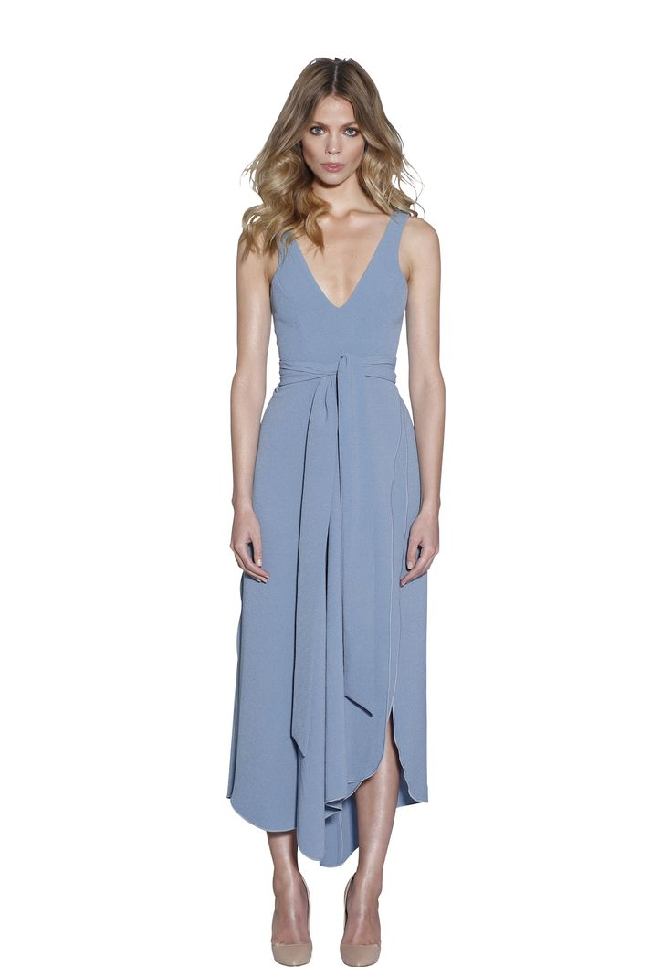 POWDER BLUE V-NECK DRESS | #W #BYJOHNNY #LIMITEDEDITION #AUSTRALIANFASHION