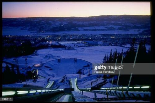 04-07 General view of sports venues during the Winter Olympics... #lillehammer: 04-07 General view of sports venues during… #lillehammer