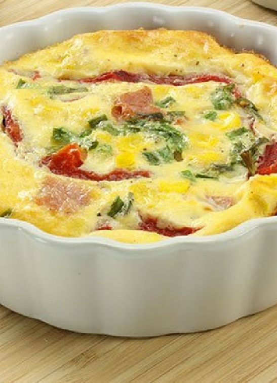 Low FODMAP & Gluten free Recipe - Bacon & mozzarella oven-baked frittata (update) http://www.ibssano.com/low_fodmap_recipe_baocn_mozzarella_frittata.html