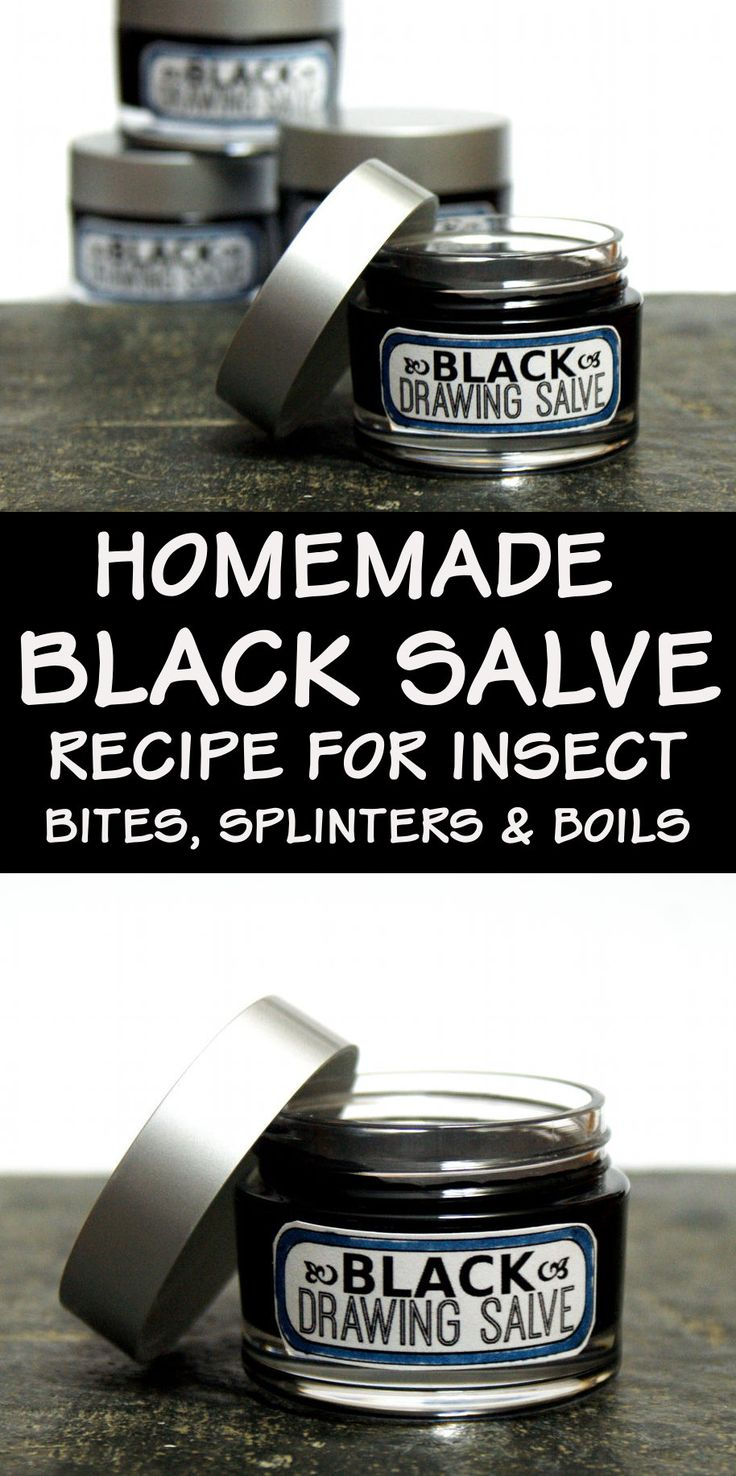 This homemade black drawing salve recipe works as a natural home remedy for splinters, boils, acne, bee stings, poison and infections. A twist off traditional black drawing salve recipes, this black drawing salve also contains honey and antioxidant green tea.