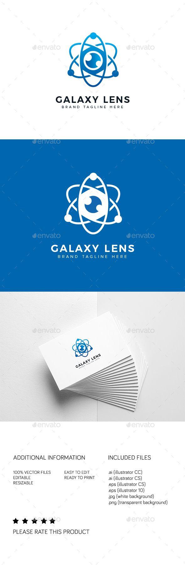 Galaxy Lens Logo Lens Logo Logo Design Template Abstract Logo