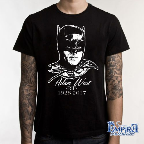 ADAM WEST SHIRT IN MEMORY OF T-SHIRT BATMAN RIP TEE B2