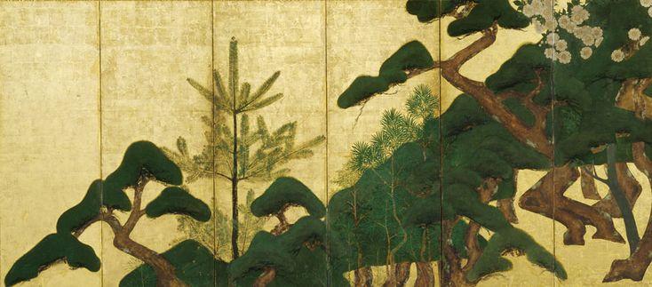『松桜図屏風』伝 俵屋宗達(東京富士美術館蔵)