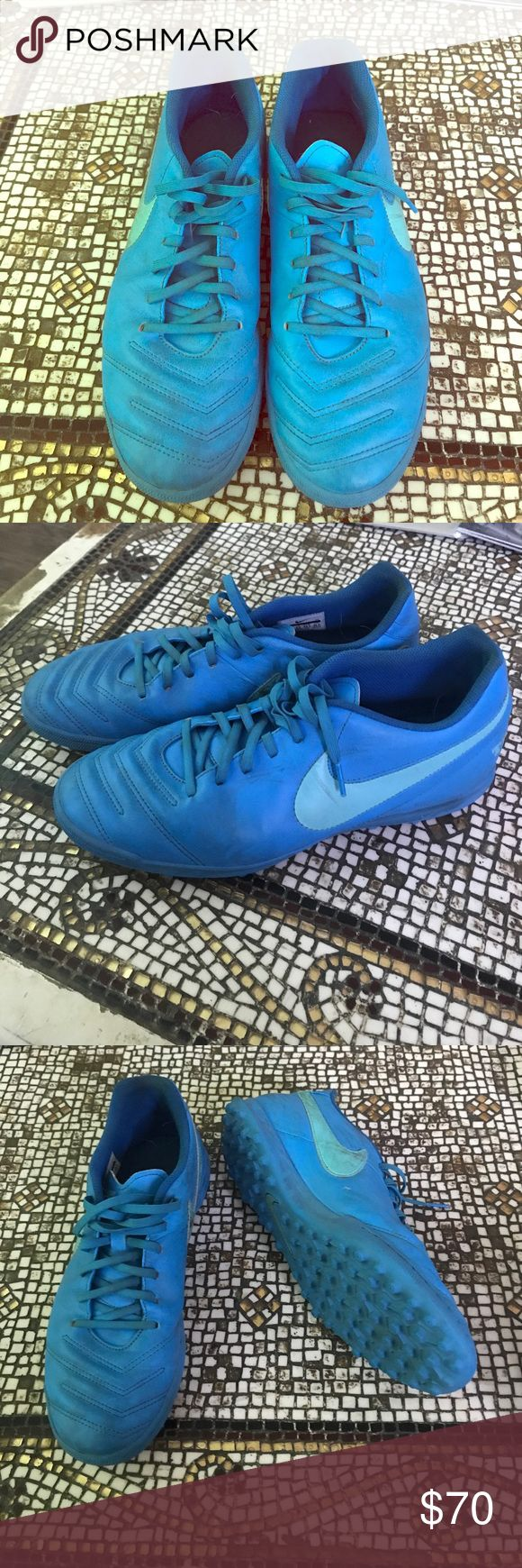 Nike Tiempo X Nike Tiempo X Próximo TF artificial Turf soccer shoe- Blue Glow/ polarized/ soar adidas Shoes Athletic Shoes