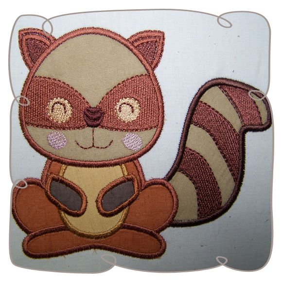 Applique Skunk Critter Machine Embroidery Design