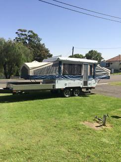 Puma toy hauler flagstaff deck camper electric roof lift sleeps 6   Camper Trailers   Gumtree Australia Cessnock Area - Kurri Kurri   1102761050