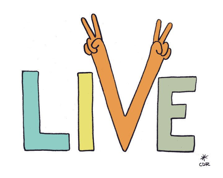 Live Peacefully Print