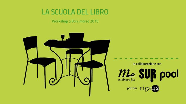 A marzo la Scuola del libro porta a #Bari i propri docenti per tre workshop sui mestieri del #libro.  In collaborazione con @edizioniSUR, minimum fax e Pool Magazine.  http://www.ipool.it/la-scuola-del-libro-a-bari/dettaglio.php?idNews=729