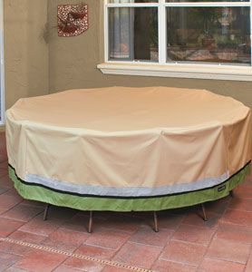 Get ready for winter -- Patio Armor™ Signature Series patio furniture covers by Sure Fit.