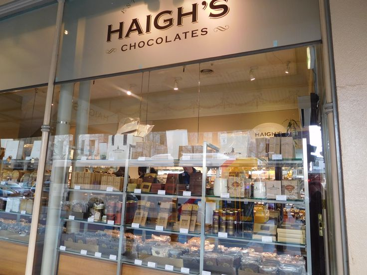 The Haigh's chocolate shop at Beehive Corner, Rundle Mall, Adelaide.