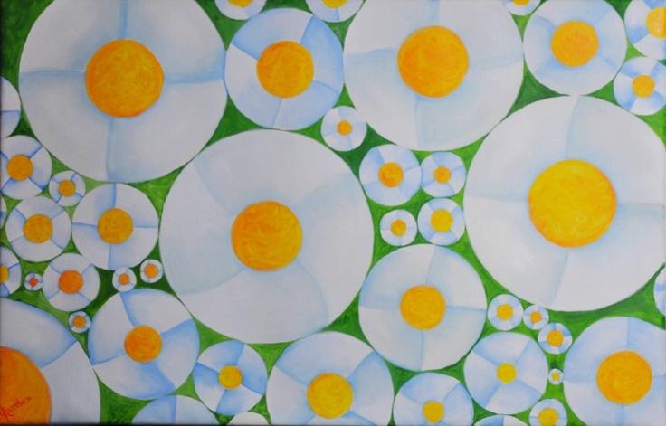 XOCHITL KOPRETINA    Medium oil on canvas Dimensions: 85 x 85 cm Colection: Rayito de Sol Year: 2012 By: Laurelena Rodríguez www.laurelena.com