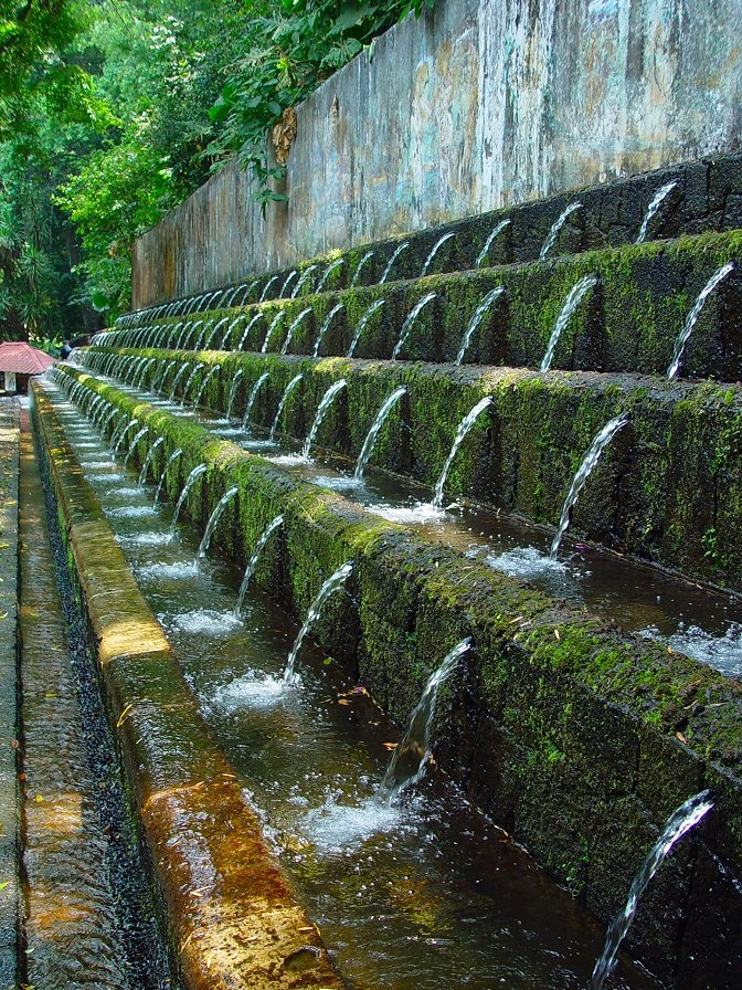 Mexico: Parque Nacional Uruapan, Mexico. This park was built over two centuries ago by monks who engineered a local water source to run the park's many beautiful fountains by gravity alone.