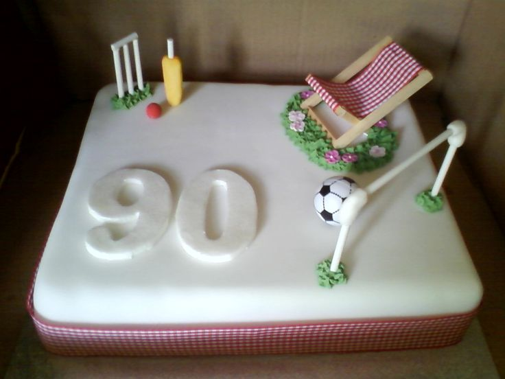 90th Birthday Cake Made For A Friend Fruit With Marzipan Fondant Icing