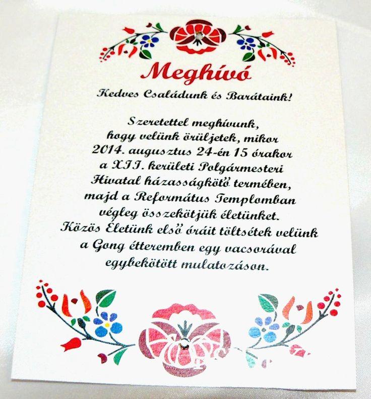 Ha a klasszikus vonalat követnétek, válasszatok esküvői meghívót magyaros mintával. Nézz szét választékunkban itt: http://eskuvoidekor.com/spl/649560/Magyar-mintas-eskuvoi-meghivok
