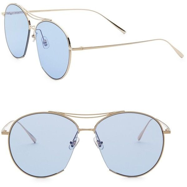 Gentle Monster Jumping Jack 60MM Aviator Sunglasses (1.000 BRL) ❤ liked on Polyvore featuring accessories, eyewear, sunglasses, gentle monster eyewear, uv protection glasses, lens glasses, aviator sunglasses and logo sunglasses