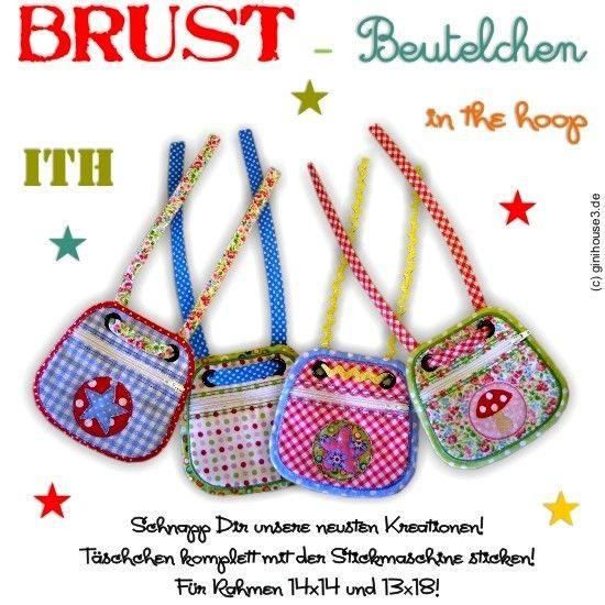 ♥ BRUST-Beutelchen ♥ ITH ♥ 13x18 & 14x14 - ginihouse3,EUR 8.00