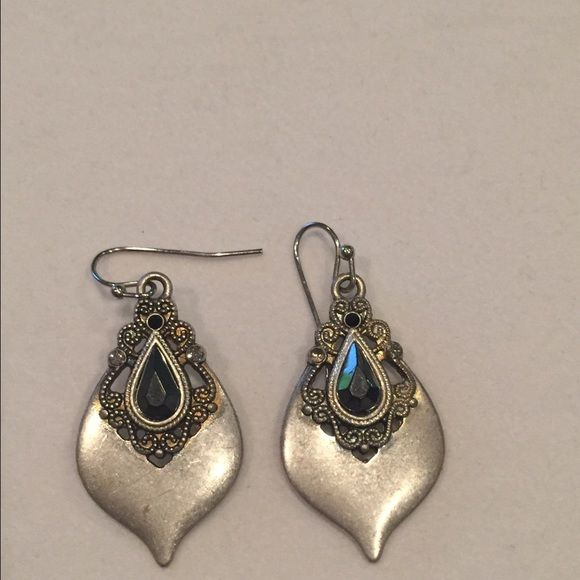 Lia Sophia teardrop earrings Silver Lia Sophia earrings in a teardrop shape Lia Sophia Jewelry Earrings