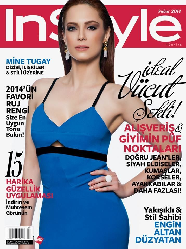 Mine Tugay - InStyle Magazine Cover [Turkey] (February 2014)