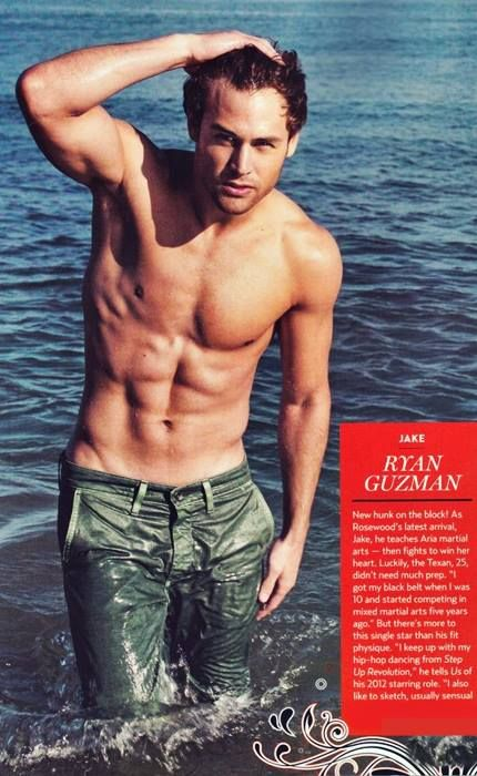 Ryan Guzman aka Jake on Pretty Little Liars he is my new crush on PLL and and and ......... I have this magazine <3 !!!