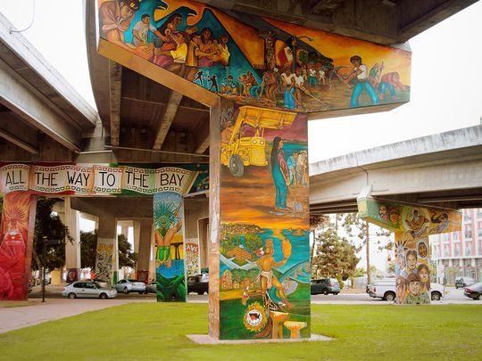 Barrio Logan. A hip neighborhood that's home to many art studios, as well as a naval base, Barrio Logan is creative and eclectic. Check out Chicano Park, which locals created as a point of pride for the large Mexican-American community here. More than 60 murals brighten up the concrete supports under the San Diego-Coronado Bridge. Try the ceviche at ¡Salud! and the rolled tacos at Las Cuatro Milpas, where the long line is worth the wait.