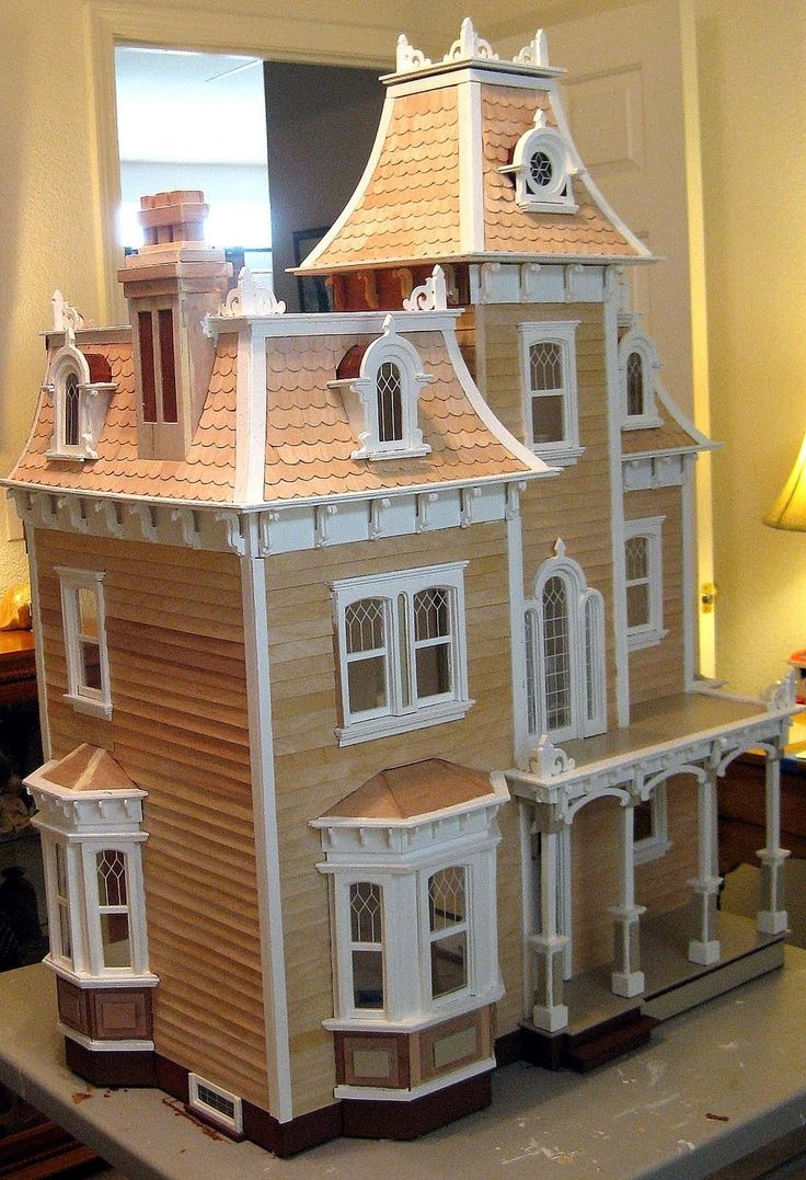 Victorian miniature houses - Time Crafted Victorian Doll House Part One