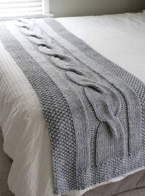 Fifty Four Ten Studio: River of Dreams - New Chunky Cable Bed Runner Knitting Pattern!