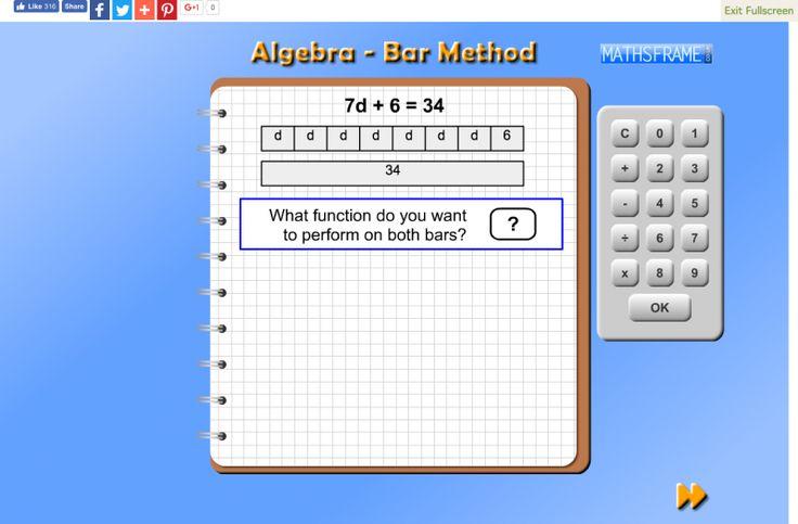 Algebra Bar Method