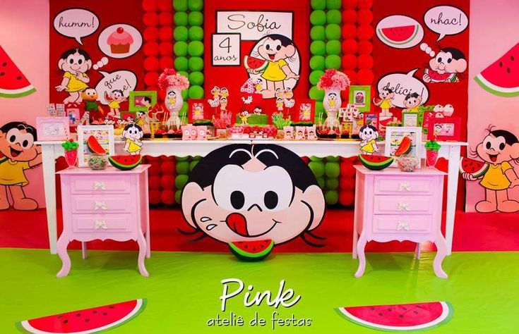 Watermelon - Magali - Turma da Mônica Birthday Party Ideas | Photo 2 of 44