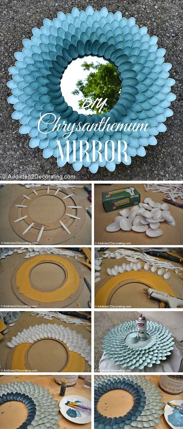 How to Make A Decorative Chrysanthemum Mirror | DIY Crafts Tips