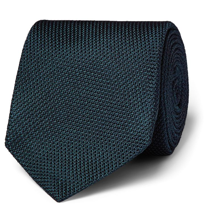 <b>Designed exclusively for MR PORTER.</b> Invest in ageless elegance with this petrol tie made specially by <a href='http://www.mrporter.com/Shop/Designers/Drakes'>Drake's</a> for our in-house label, Kingsman. The silk-grenadine is woven on vintage wooden looms and meticulously finished by hand in England. Wear it to bring understated panache to sharp tailoring.