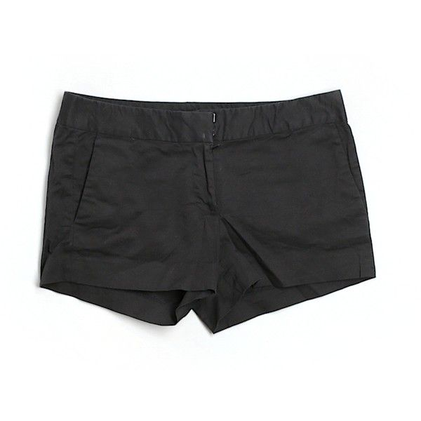Pre-owned J. Crew Khaki Shorts Size 4: Black Women's Bottoms ($17) ❤ liked on Polyvore featuring black