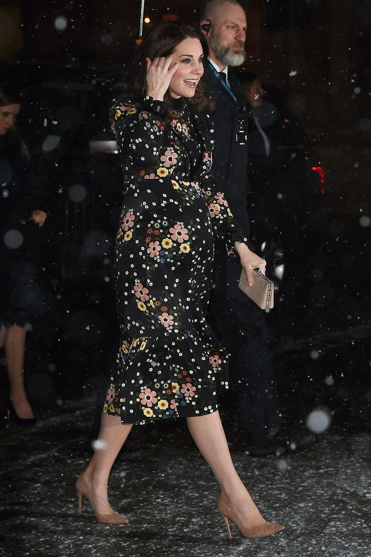 The Duchess Of Cambridge Defies The Chill In London