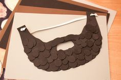 Create a Lumberjack Beard using craft foam and printable template! {via Piggy Bank Parties}  #RedBarnFeature
