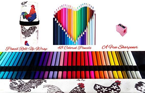 Amazon Com Colored Pencils Art Supplies For Kids Adults Coloring Book With Canvas Case Roll Up Wrap Bag And Kids Art Supplies Color Pencil Art Colored Pencils