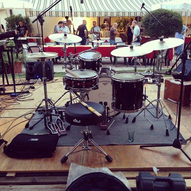 My setup with Zildjian, Pearl & Vic Firth