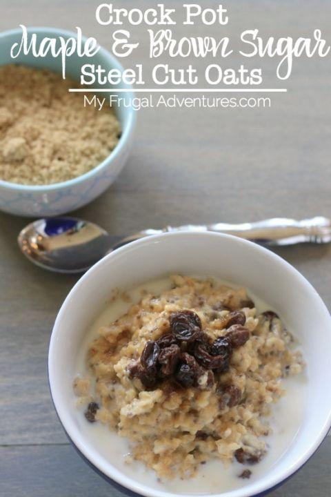 Crock pot oatmeal on pinterest crock pot oatmeal and steel cut oats