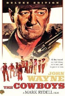 The Cowboys, 1972, John Wayne, Roscoe Lee Browne, Bruce Dern, One of John Wayne's best movies. This one the hole family should see.