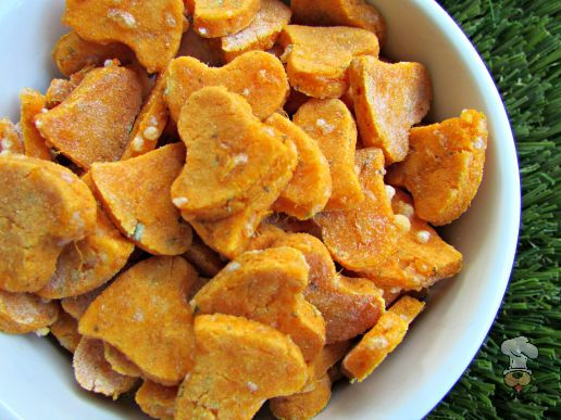 (wheat and gluten-free) cheesy sweet potato dog treat/biscuit recipe