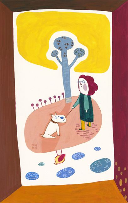 Trees: A Woman with a Dog (2012) by Eunyoung Seo