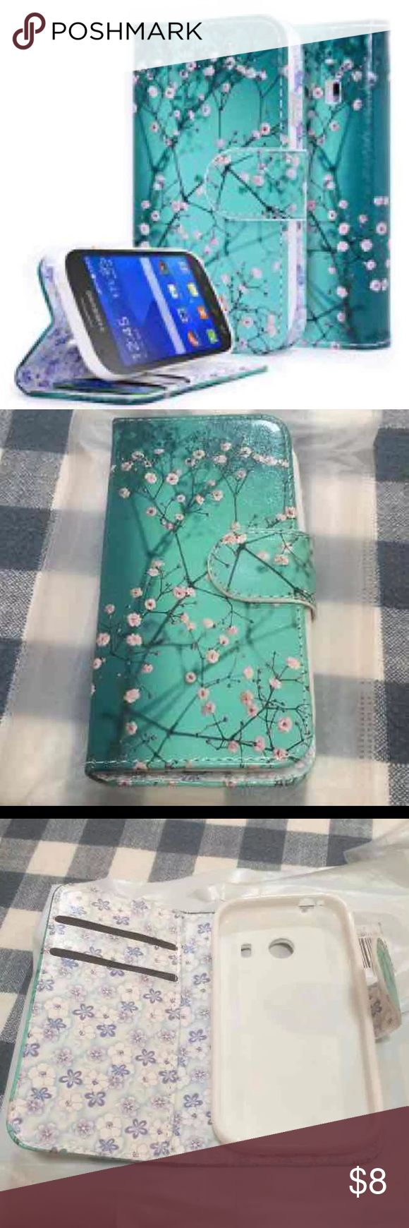 Plum Blossom  Wallet Case for Galaxy 760c  Plum blossom design Never used Opened to take picture  Galaxy Stardust Case, Galaxy Ace Style Case, NageBee - Design Dual-Use Flip PU Leather Fold Wallet Pouch Case for Samsung Galaxy Ace Style S765C / Galaxy Stardust S766C (Wallet plum blossom) Accessories Phone Cases